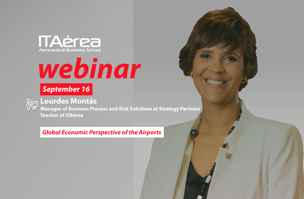 webinar 16 september Lourdes Montás 1024x671 - Live conference about Global Economic Perspective of the Airports